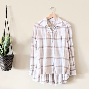 FREE PEOPLE Preppy in Plaid Button Down
